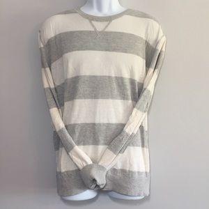 Banana Republic Silk Linen Striped sweater shirt L